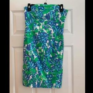 Lilly Pulitzer Strapless Dress with Back bow